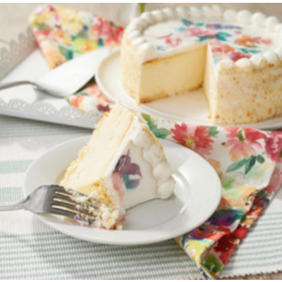 Flower Design Cheesecake
